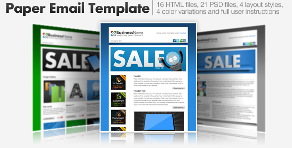 Paper Email Templates - 16 HTML Email Templates