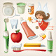 Set of Items to Keep Your Teeth Healthy
