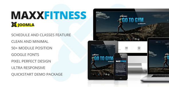 00 screen. large preview - Maxx Fitness Responsive Joomla Template