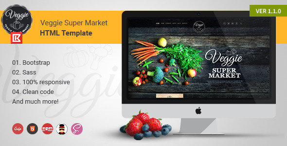 Veggie Supermarket | Professional HTML Template