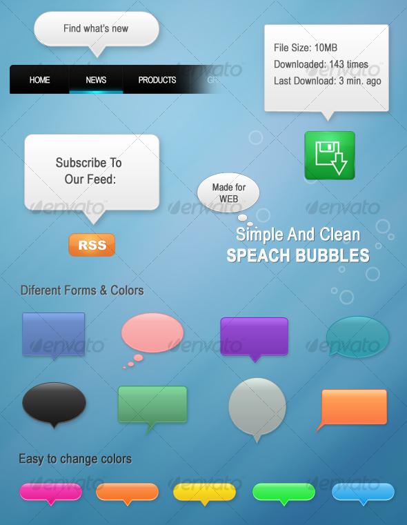 GraphicRiver Speach Popup Bubbles 50364