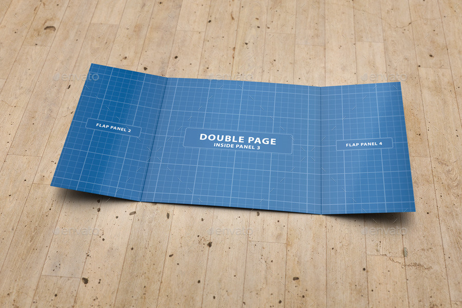 Gate Fold Brochure Mockups