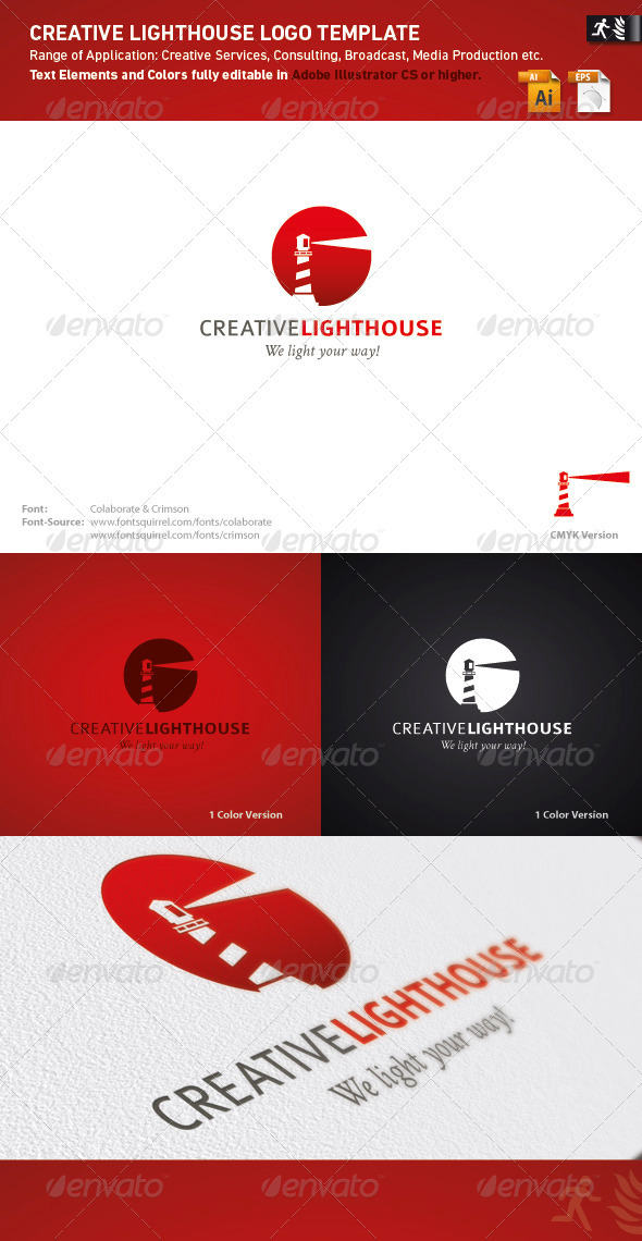 Creative Lighthouse Logo Template - Buildings Logo Templates