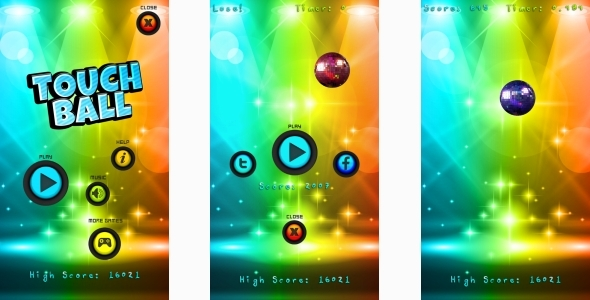 Touch Ball - HTML5 Mobile Game (Capx)