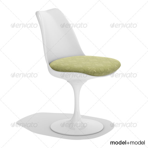 Knoll Tulip chair - 3DOcean Item for Sale
