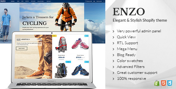 Image of ENZO - Shopify Multi Purpose theme
