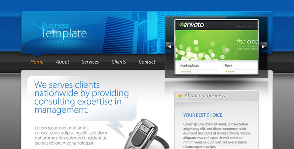 ThemeForest Business Template 50386