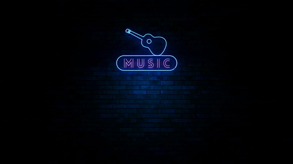 Music Neon Light Sign Flickering By Ianm35 Videohive