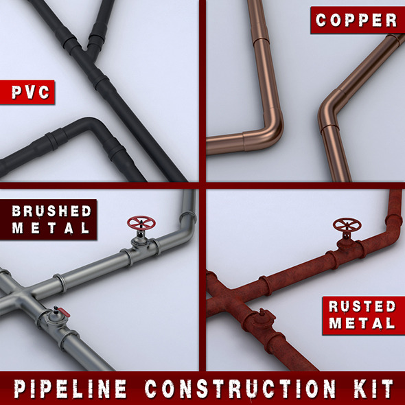 Pipeline Construction Kit - 3DOcean Item for Sale
