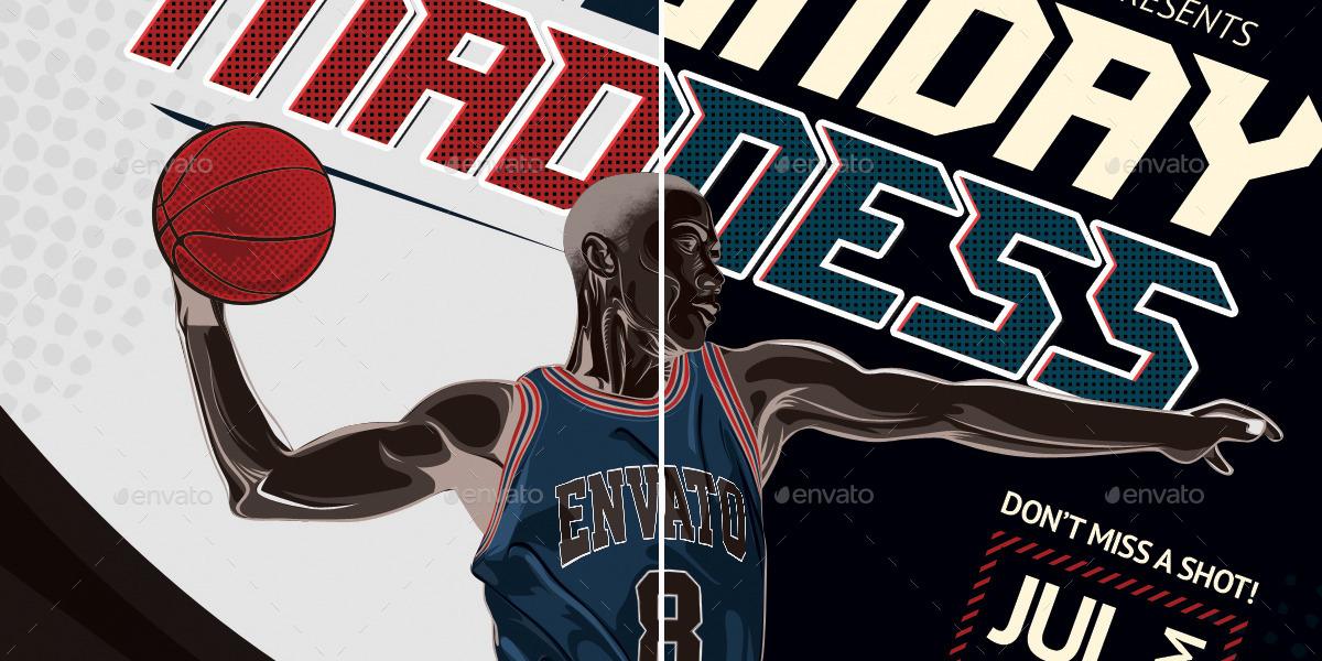 Basketball Match Flyer Template by mahameru | GraphicRiver