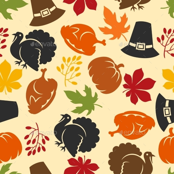 Happy Thanksgiving Day Seamless Pattern