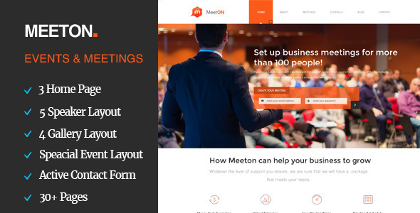 Meeton - Conference & Event HTML Template