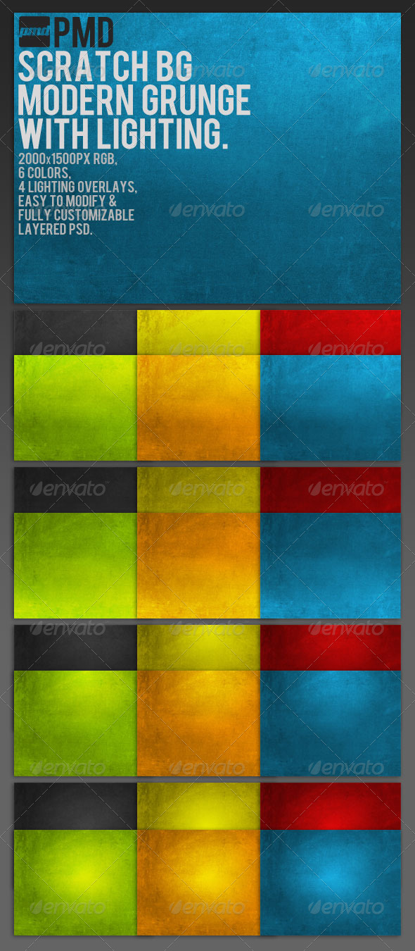 GraphicRiver ScratchBG Modern Grunge Backgrounds 151889