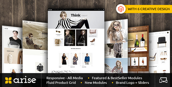 01 ThemePreview.  large preview - Arise - Magento Responsive Theme