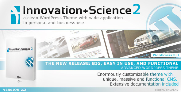ThemeForest Innovation&Science 2 Advanced WordPress Theme 93906