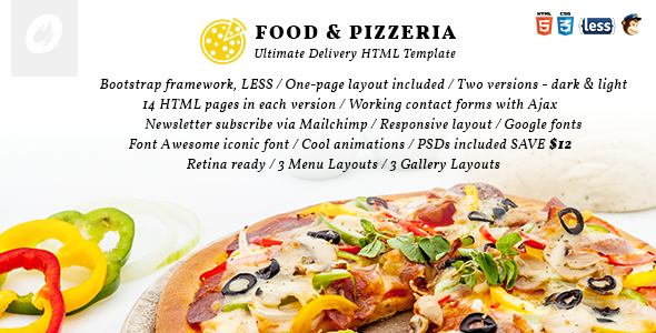 Food & Pizzeria - Ultimate Delivery HTML5 Template