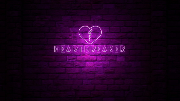 heartbreaker sign neon light by ianm35 videohive. Black Bedroom Furniture Sets. Home Design Ideas