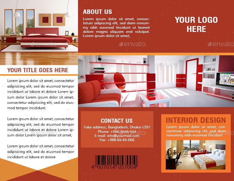 Interior design trifold brochure by zakirhossain499152 for Interior brochure designs