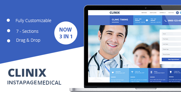 Download  CLINIX Medical Instapage Landing Page  nulled download