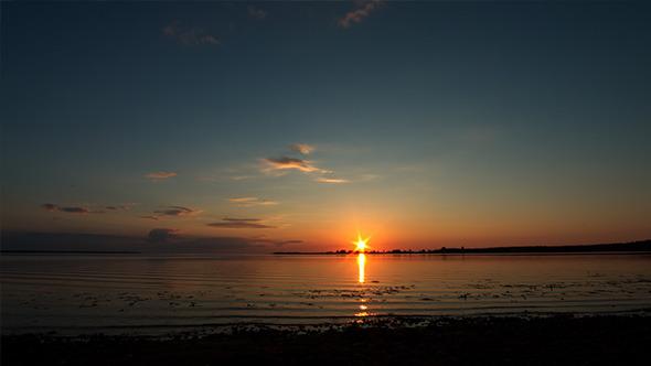 Sunset in Lake Island