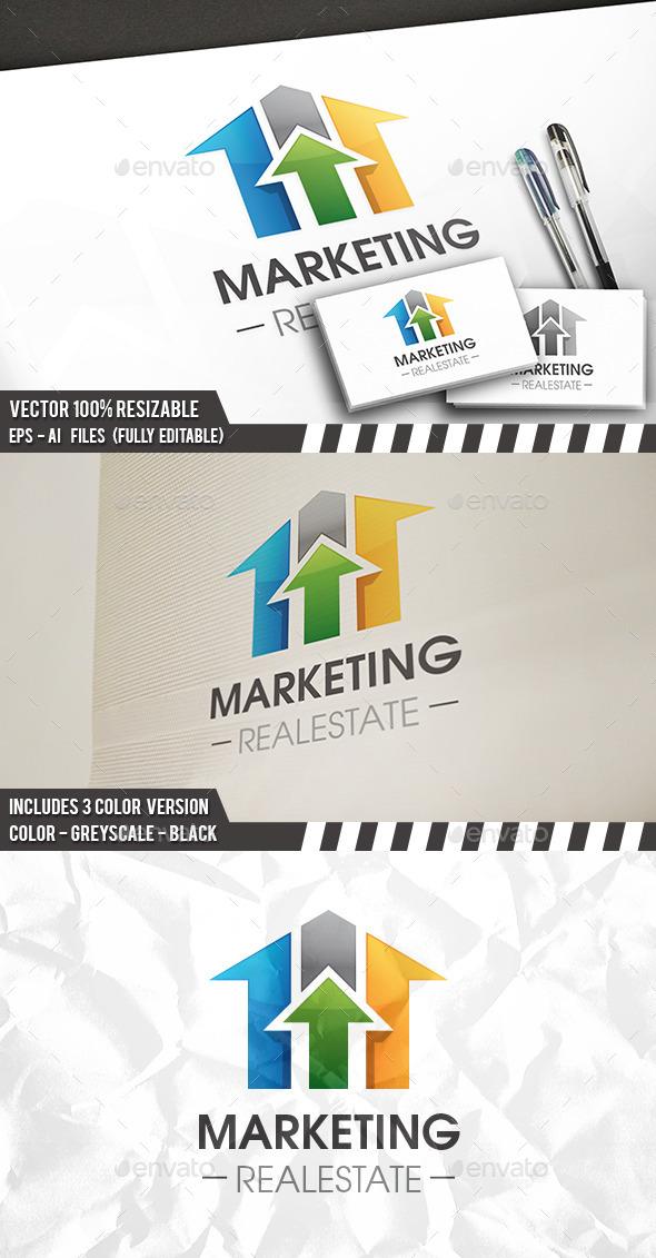 Real Estate Market Logo Template