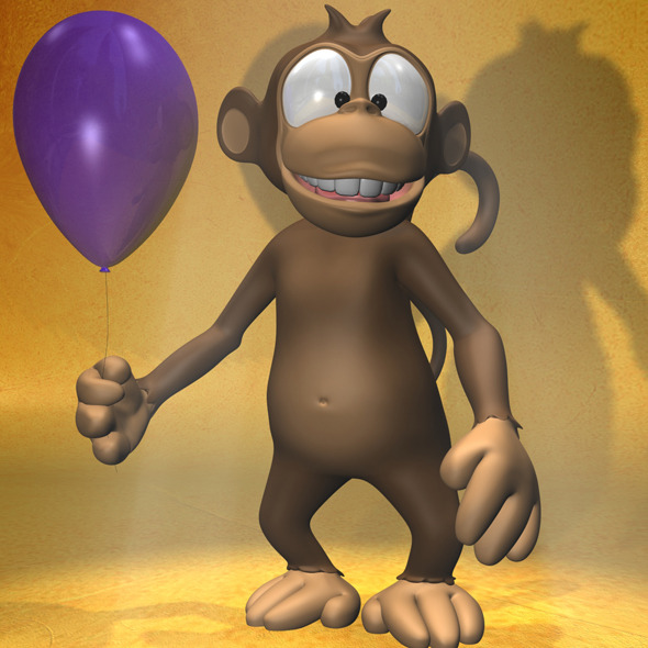Cartoon monkey RIGGED - 3DOcean Item for Sale