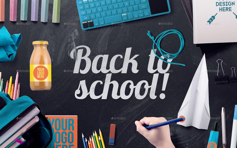 Back To School Mockup Amp Hero Image Scene Generator By