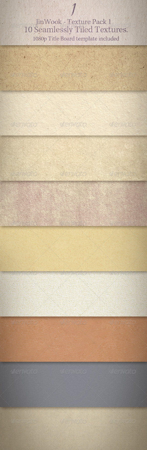 JinWook Texture Pack 1 (Seamless) - Paper Textures
