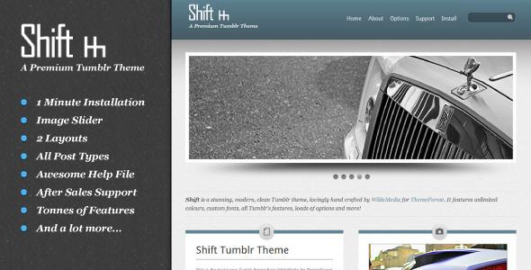 ThemeForest Shift Tumblr Theme 265818