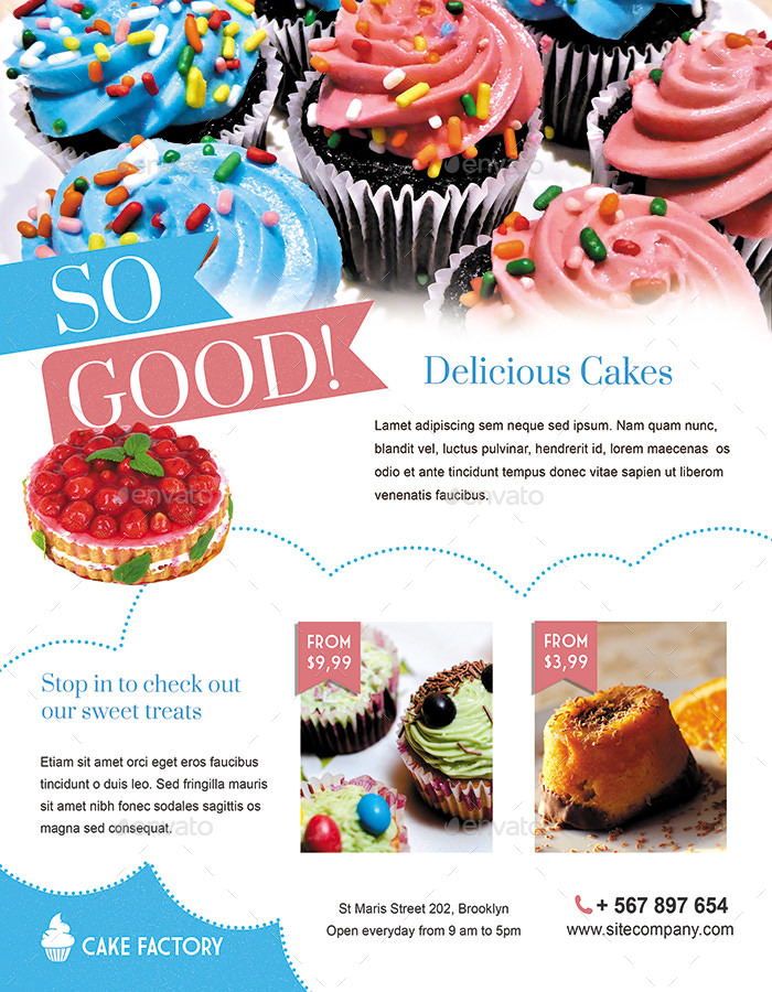 Cake Bakery Flyer Or Magazine Ad By Ingridk Graphicriver