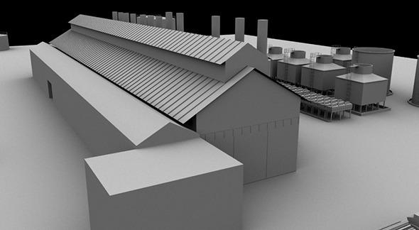 Low Poly Diesel Generator Plant - 3DOcean Item for Sale