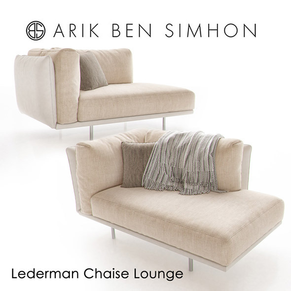 Lederman Chaise by Arik Ben Simhon - 3DOcean Item for Sale