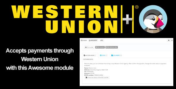 WesternUnion+ PrestaShop Module - CodeCanyon Item for Sale