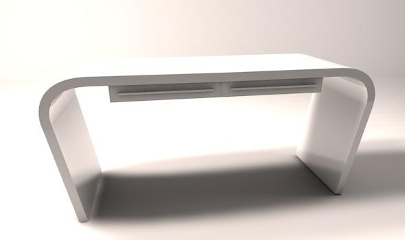 3DOcean Minimalist office computer desk 1257331