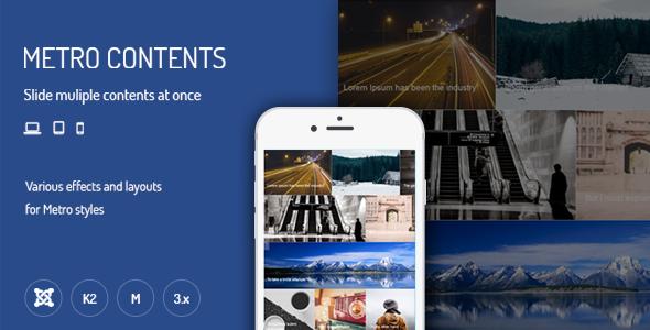Metro Contents - Responsive Joomla Extensions