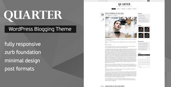 Quarter - Responsive WordPress Blogging Theme