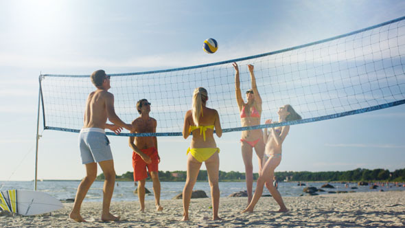 Resultado de imagen de volleyball in the beach