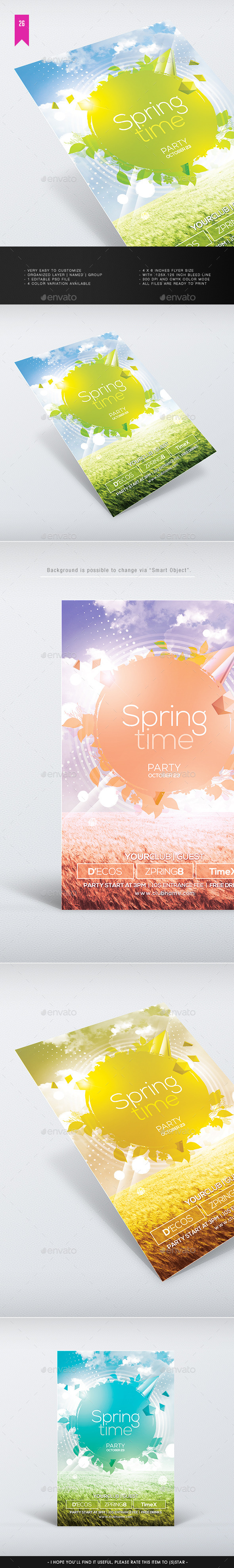 Spring Time V.2 - Flyer Template