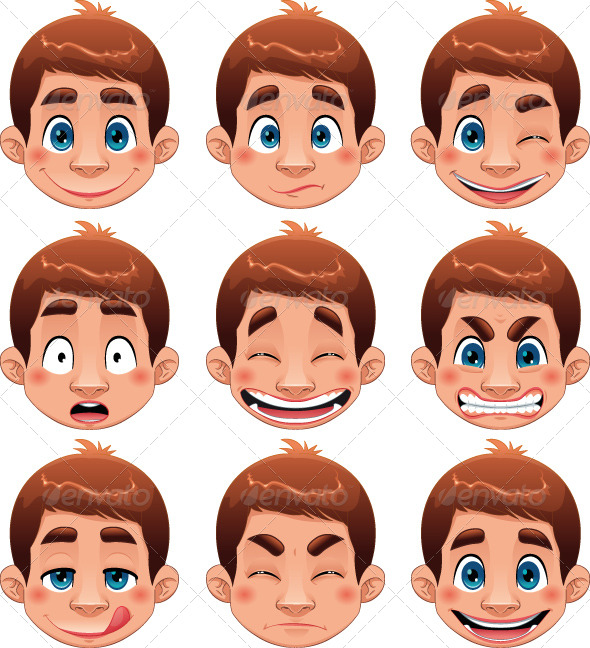 GraphicRiver Boy Expressions 151589