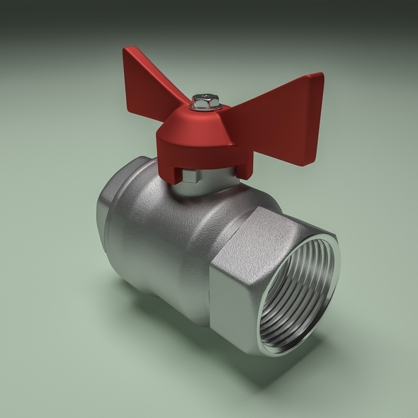 Ball valve - 3DOcean Item for Sale
