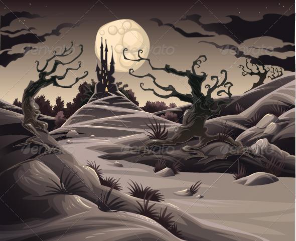 GraphicRiver Horror landscape 152145