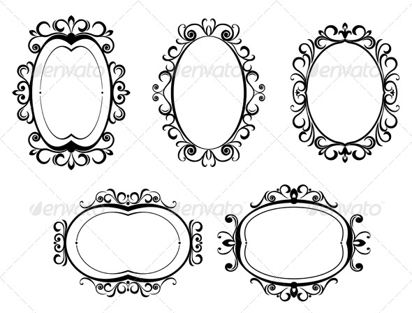 GraphicRiver Vintage frames and borders 152170