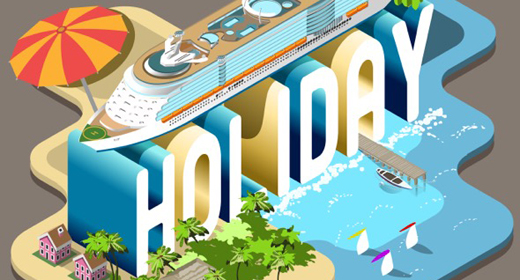 Summertime Set 3D Isometric Vector Collection