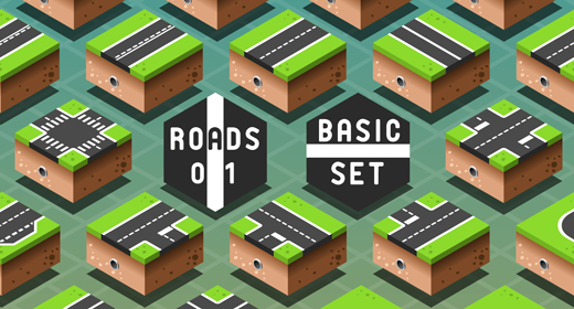 Road Set 3D Isometric Vector Mega Collection