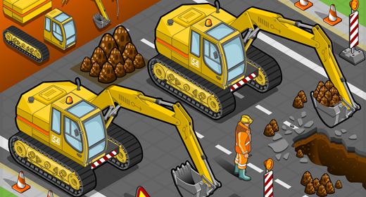 Heavy Vehicles 3D Isometric Vector Mega Collection