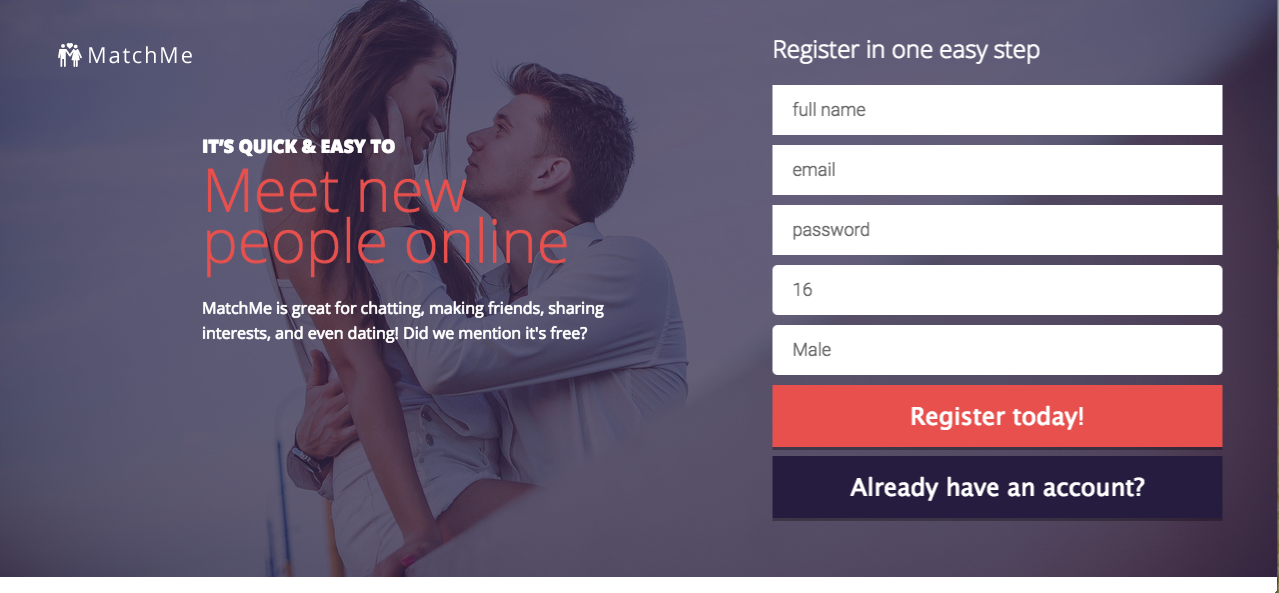 Matchme dating script