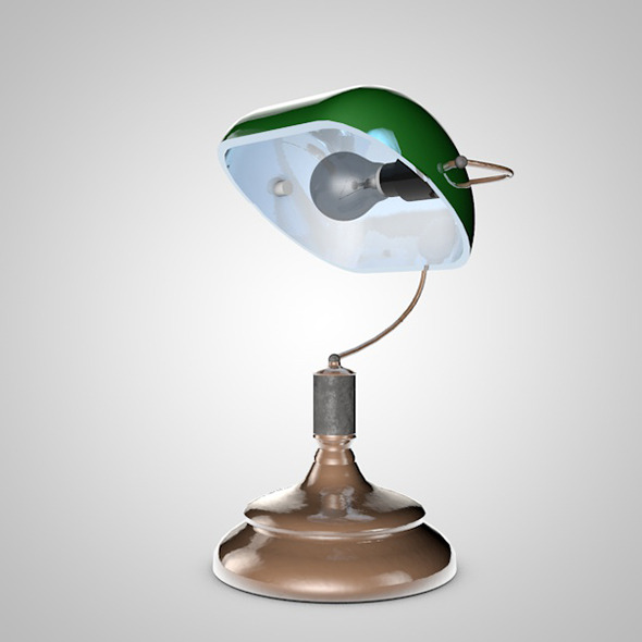 Old Table Lamp - 3DOcean Item for Sale