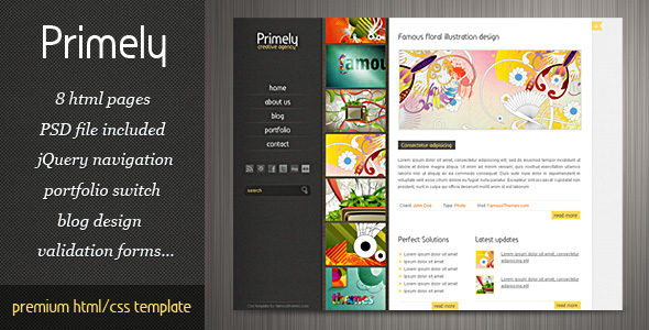Primely CSS Template - theme preview screenshot