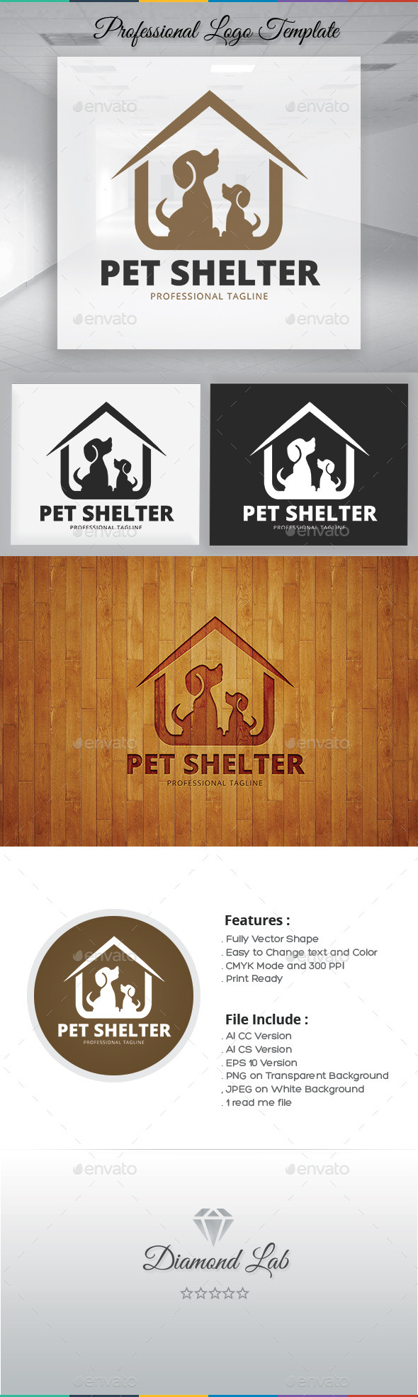 Pet Shelter Logo Template