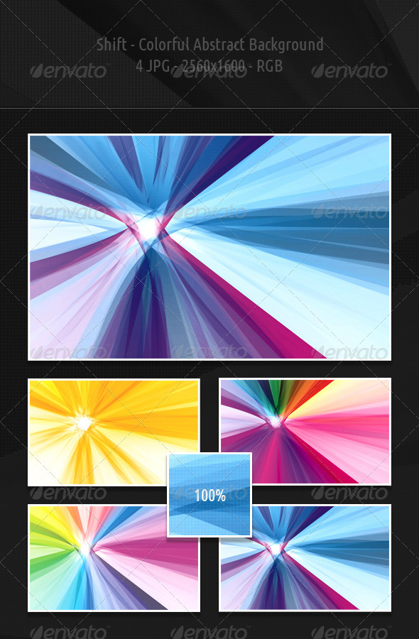 GraphicRiver Shift Colorful Abstract Backgrounds 1260633
